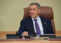 Meeting of Interdepartmental Commission on urban development in historical settlements of Tatarstan on new construction projects. Held by Tatarstan President Rustam Minnikhanov.