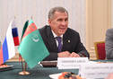 Meeting of Tatarstan President Rustam Minnikhanov with delegation from Turkmenistan led by Chairman of the Committee on Legislation and Norms of the Mejlis of Turkmenistan Serdar Berdimuhamedov.