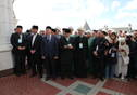 A reburial ceremony of the bones of Kazan khans. Tatarstan President Rustam Minnikhanov is taking part.