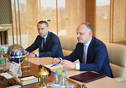 Meeting of Tatarstan President Rustam Minnikhanov with Head of Administration of the Ministry of Internal Affairs for Transport in Volga Federal District Aleksandr Berezhnoy