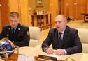 Meeting of Tatarstan President Rustam Minnikhanov with Head of the Border Guard of the Federal Security Service of the Russian Federation in Saratov and Samara regions