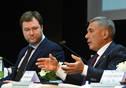 Plenary meeting of the first Volga Federal District Forum on Public-Private Partnerships. Tatarstan President Rustam Minnikhanov is taking part.